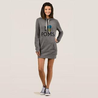 I <3 Poms Hoodie Dress/Tunic