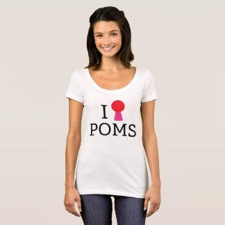 I <3 Poms Scoop Neck T-Shirt