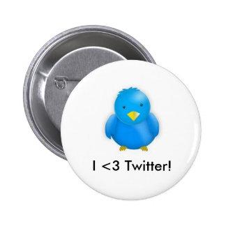 I <3 Twitter!_Button 6 Cm Round Badge