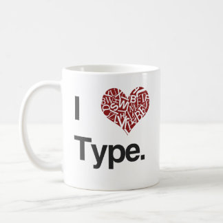 I <3 Type Coffee Mug