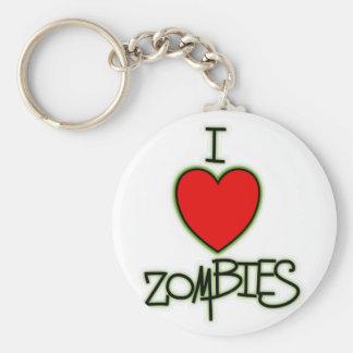 I <3 Zombies! Basic Round Button Key Ring