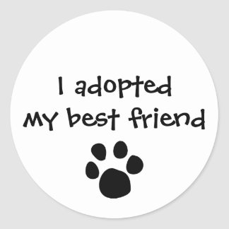 """I adopted my best friend""  Sticker by The Ashes"