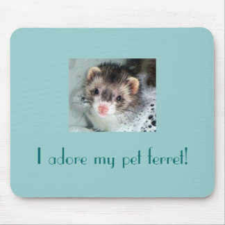 I adore my pet ferret! mouse pad