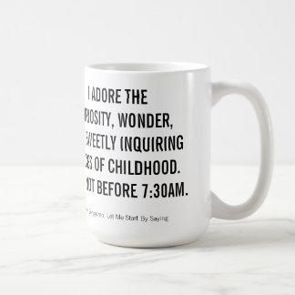 I adore things after 730am coffee mug