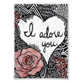 I Adore You Photo Art