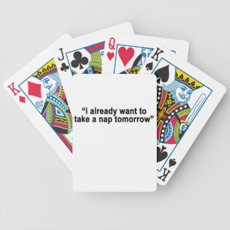 I already want to take a nap tomorrow typography s poker deck