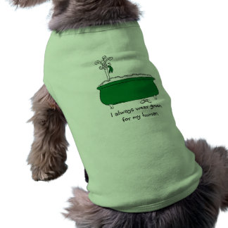 I Always Wear Green Sleeveless Dog Shirt