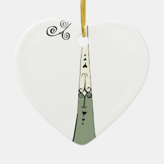 I Am 1 yrs Old from tony fernandes design Ceramic Heart Decoration