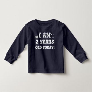 I AM 2 YEARS OLD TODAY Cute Birthday Toddler T-Shirt