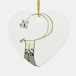I Am 2 yrs Old from tony fernandes design Ceramic Heart Decoration