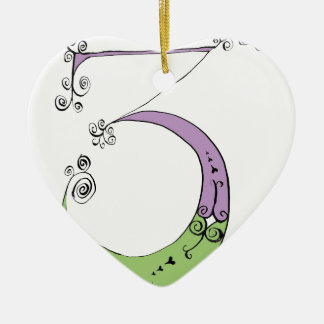 I Am 3 yrs Old from tony fernandes design Ceramic Heart Decoration