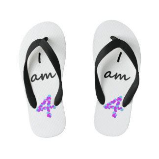 I am 4 - Kids Flip Flops Thongs