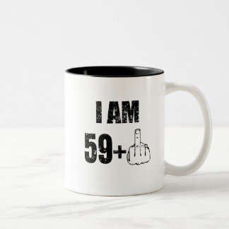 I am 59 plus 1, 60th birthday mug 1957 birthday
