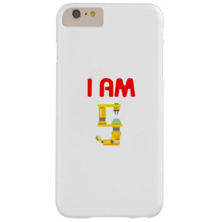 I am 5 Robots Evolution 5th Birthday 2012 Barely There iPhone 6 Plus Case