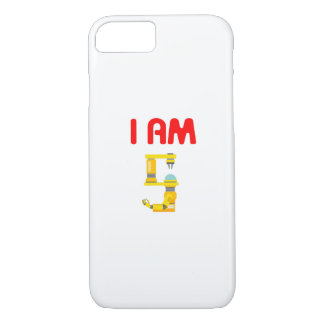 I am 5 Robots Evolution 5th Birthday 2012 iPhone 8/7 Case