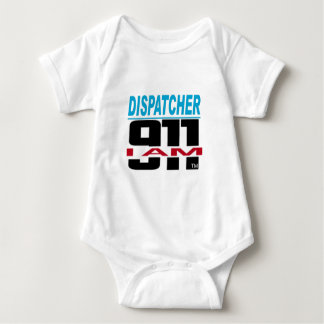 I Am 911 logo stuff for Fire, EMS, Dispatch! Baby Bodysuit
