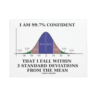 I Am 99.7% Confident Fall Within 3 Standard Dev Doormat