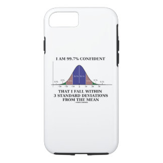 I Am 99.7% Confident Fall Within 3 Standard Dev iPhone 8/7 Case