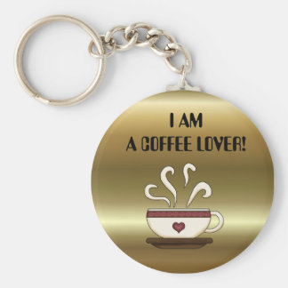 I AM A COFFEE LOVER! keychain