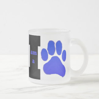 I am a Cub frosted glass mug