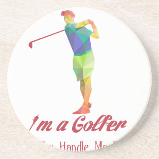 I am a Golfer - Can You Handle My Balls v2 Drink Coaster