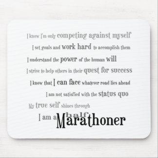 I Am a Half Marathoner Mouse Pad