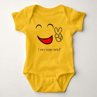 I am a Happy Baby Cute Jersey Suit Baby Bodysuit