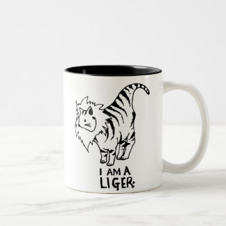 I Am A Liger Two-Tone Coffee Mug