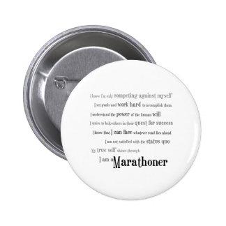 I am a Marathoner 6 Cm Round Badge
