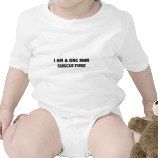 i am a one man subculture baby bodysuits