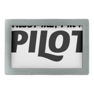 I am a Pilot Belt Buckle