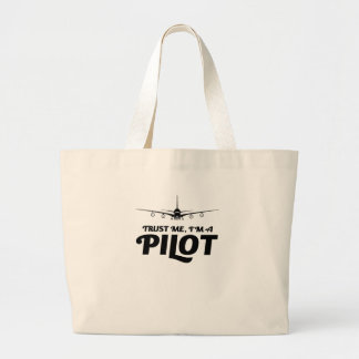 I am a Pilot Large Tote Bag