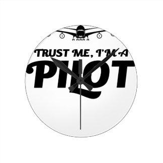 I am a Pilot Round Clock