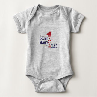 I am a proud baby of my single dad baby bodysuit