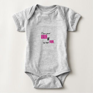 I am a proud baby of my single mom baby bodysuit