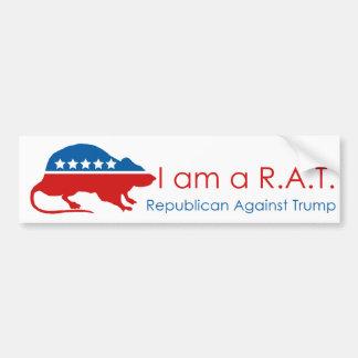 I am a R.A.T: Republican Against Trump Bumper Sticker