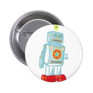 I am a robot 6 cm round badge