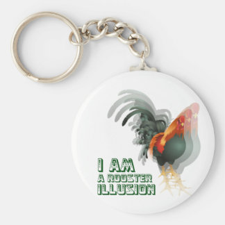 I Am A Rooster Illusion Key Chains