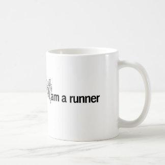 I am a runner basic white mug