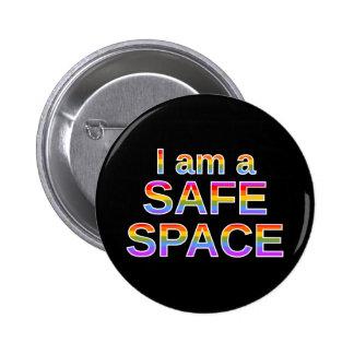I am a SAFE SPACE 6 Cm Round Badge