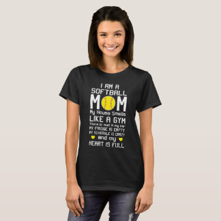 I am a Softball Mom My Heart is Full T-Shirt