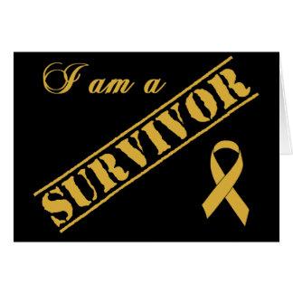 I am a Survivor - Childhood Cancer Gold Ribbon Card