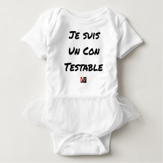I am a Testable IDIOT - Word games Baby Bodysuit