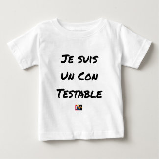 I am a Testable IDIOT - Word games Baby T-Shirt