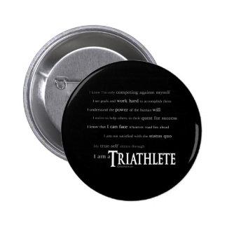 I am a Triathlete 6 Cm Round Badge