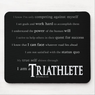 I am a Triathlete Mouse Pad