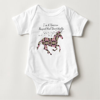I Am A Unicorn Magical And Uncatchable Baby Bodysuit