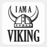I Am A Viking Square Sticker
