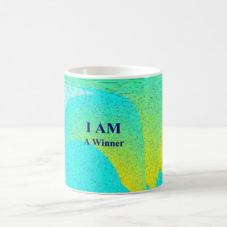 """I AM A WINNER"" White 11 oz Classic White Mug"