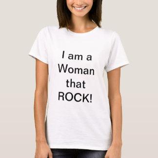 """I am a Woman that Rock"" TShirt"
